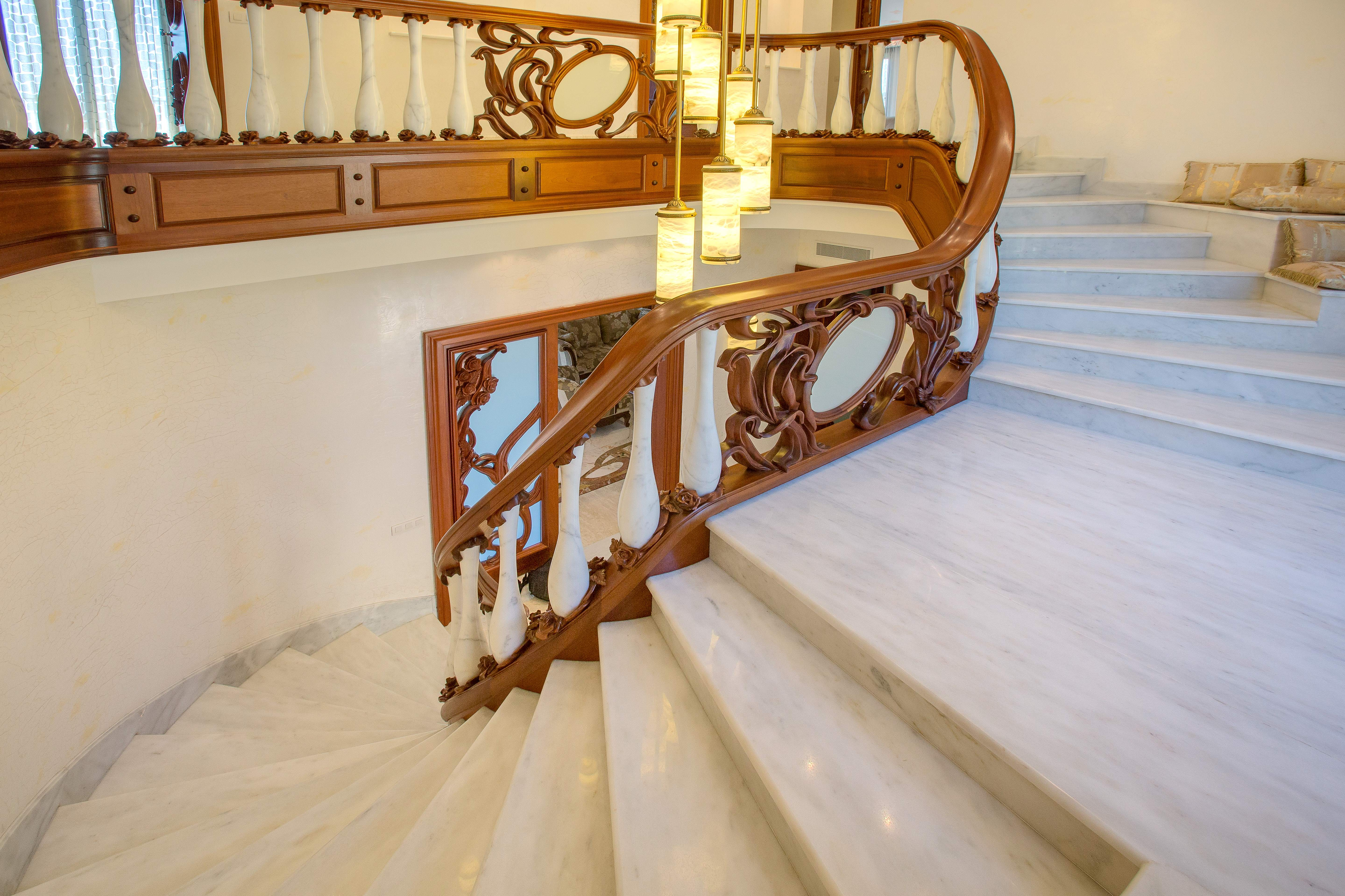 Majestic stairway in the hall