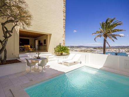 The stunning pool and terrace area