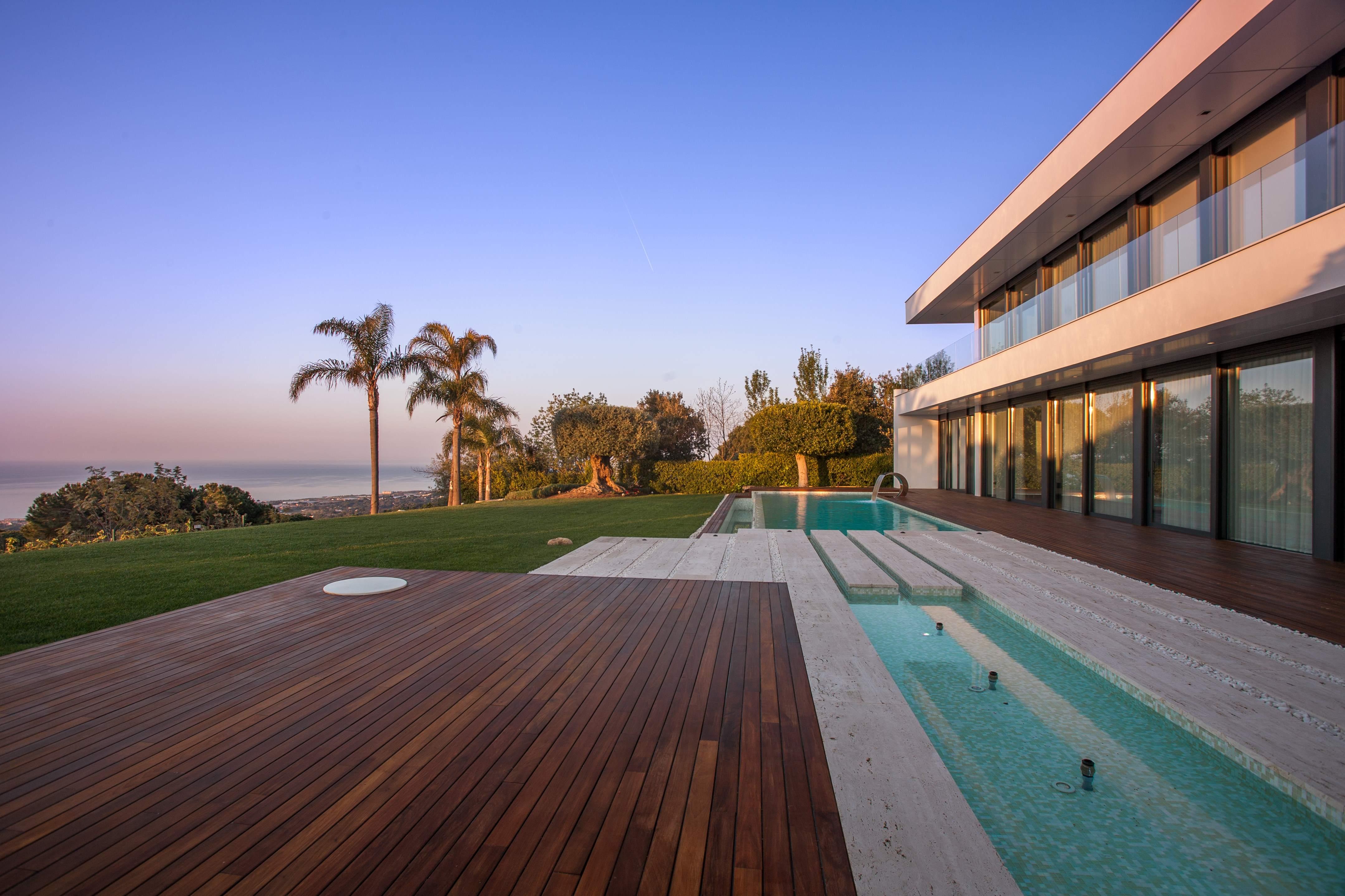 Beautiful minimalist luxury supermaresme villa with for Terrace pool