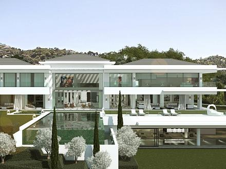 The beautiful Villa Ibiza from outside